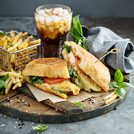 Panini sandwich with chicken and cheese Banque d'images - 103968569