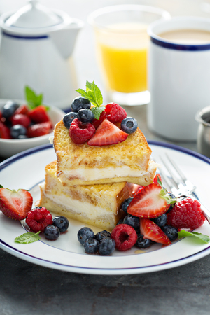 Baked french toast with cream cheese filling