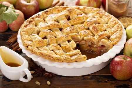 Homemade apple pie Imagens