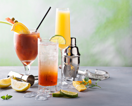 Breakfast or brunch cocktails