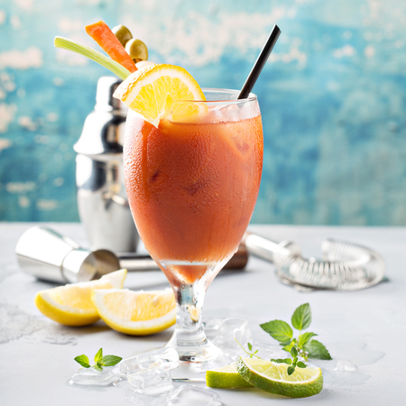 Cold refreshing Bloody Mary