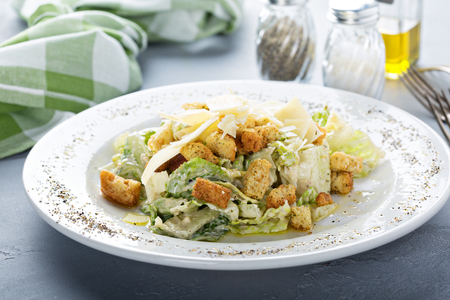 Ceasar salad for lunch Stock Photo