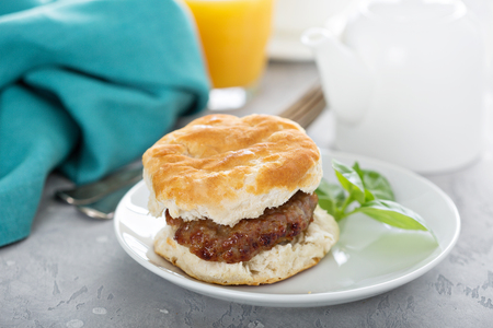 Breakfast biscuit with sausage