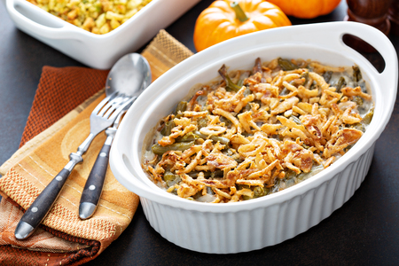 Green beans casserole Banque d'images