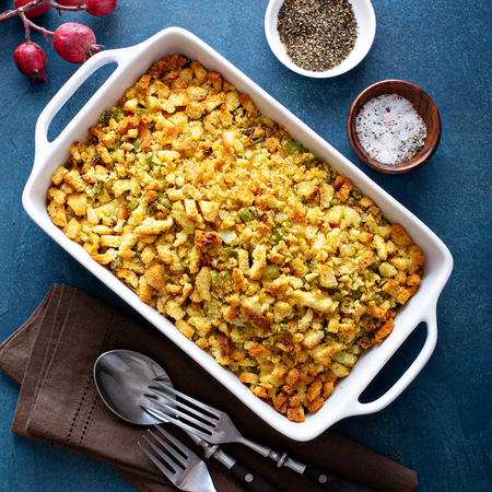 Traditional stuffing for Thanksgiving or Christmas Stock fotó - 110714521