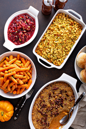All traditional Thanksgiving side dishes
