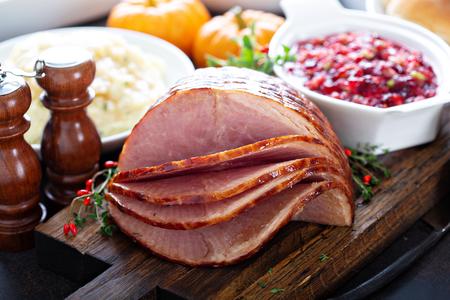 Holiday glazed sliced ham
