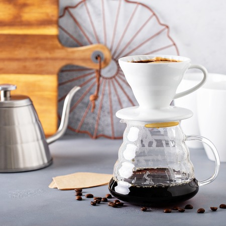 Pour over coffee being made Zdjęcie Seryjne