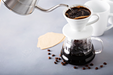 Pour over coffee being made Stockfoto