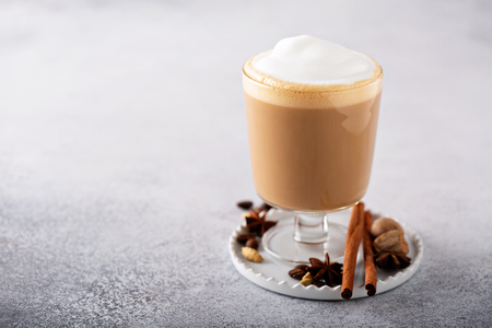 Spiced chai latte Stock Photo