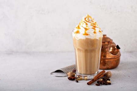 Spiced iced chai latte