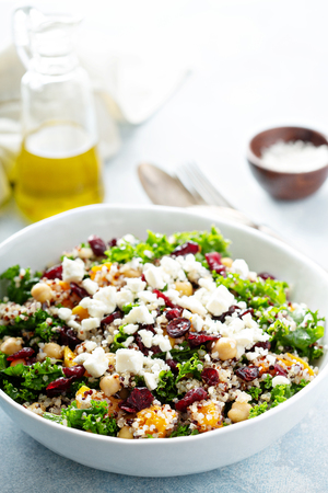 Kale and quinoa salad with chickpeas