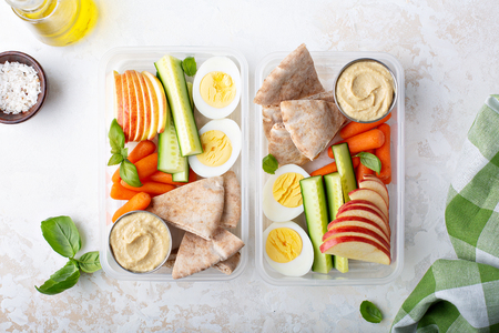 Healthy and nutricious lunch or snack boxes