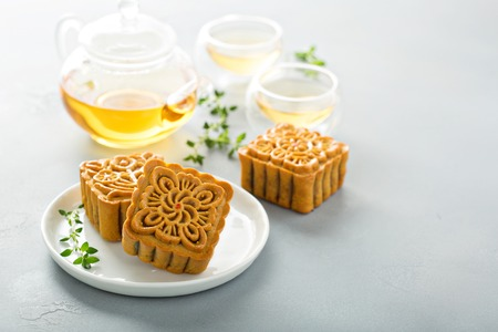 Traditional Chinese mooncakes 写真素材