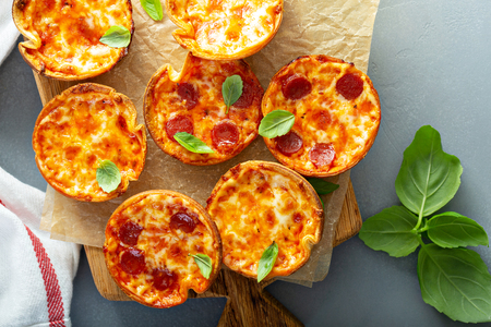 Mini pepperoni and cheese pizzas