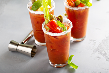 Bloody mary cocktails for brunch