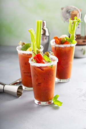 Bloody Mary Cocktails zum Brunch