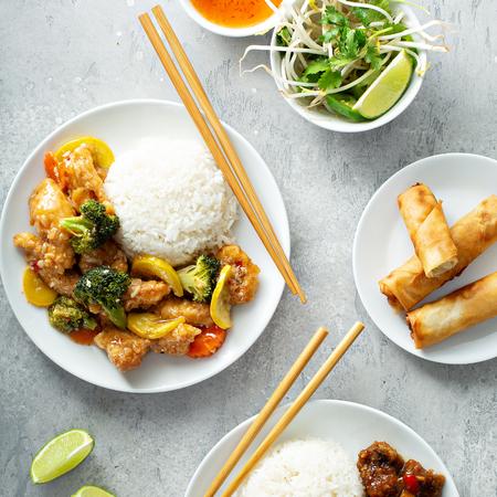 Concepto de comida asiática Foto de archivo