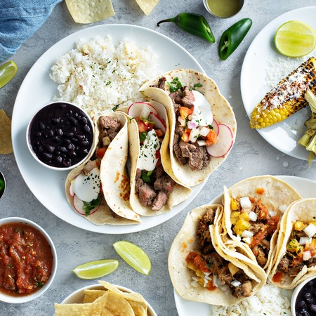 Mexican street food variety
