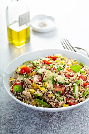 Fresh quinoa tabbouleh salad