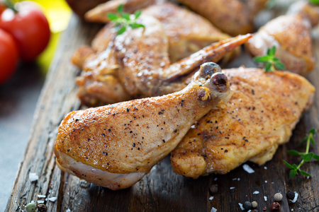 Roasted or smoked chicken