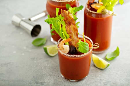 Spicy bacon bloody mary