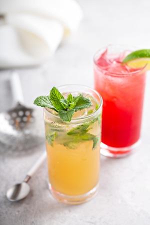 Mojito and Sea breeze cocktail