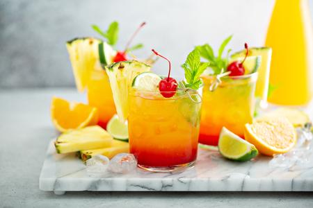 Tequila sunrise cocktail Reklamní fotografie