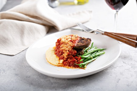 Meatloaf with polenta