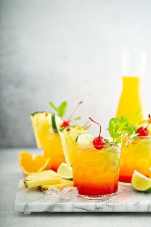 Tequila sunrise cocktail 免版税图像