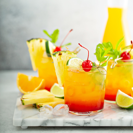 Tequila sunrise cocktail Stock Photo