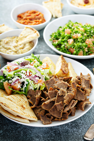 Mediterranean food on the table