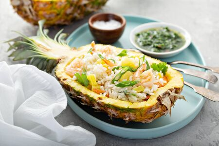 Pineapple shrimp rice