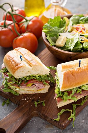 Italian sandwich for lunch