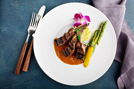 Lamb chops with fried rice