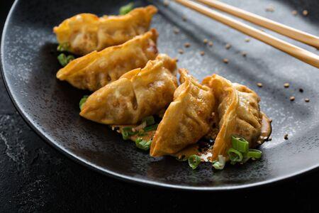 Fried potstickers or dumplings