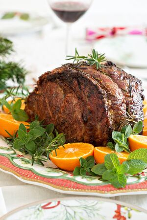 Holiday Christmas beef roast