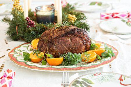 Holiday Christmas beef roast