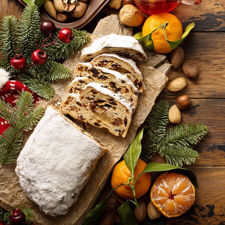 Traditional Christmass stollen