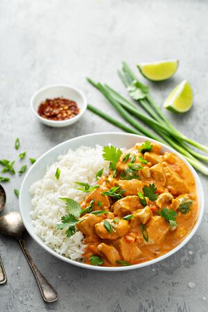 Chicken and cashew red curry