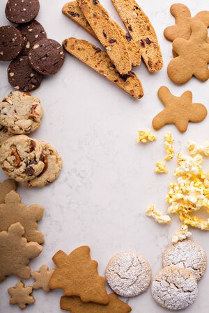 Variety of cookies for Christmas