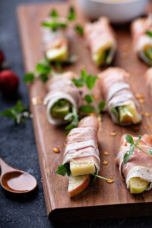 Christmas or New Year party appetizer Stock Photo