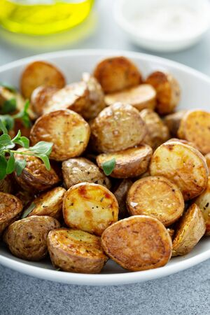 Roasted or air fryed baby potatoes