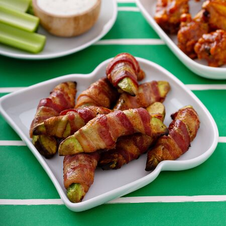 Bacon wrapped avocado, game day appetizer, super bowl food