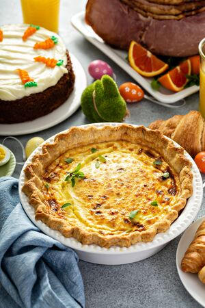 Quiche lorraine for Easter brunch