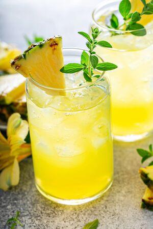 Refreshing summer mojito cocktail