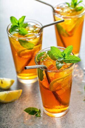 Refreshing iced tea Stockfoto