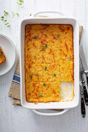Cornbread and cheese casserole