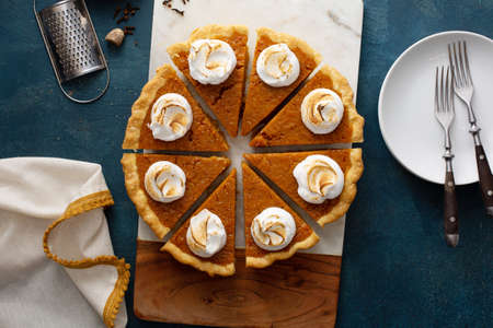 Sweet potato pie with marshmallow topping