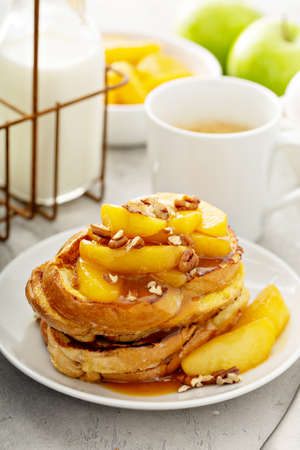 Caramel apple french toast Stok Fotoğraf